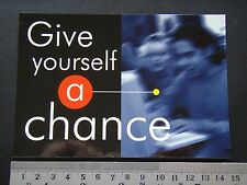 GIVE YOUSELF A CHANCE SIMS SCHOOL OF INFORMATION MANAGEMENT & SYSTEMS ADVERT