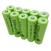 10X 18650 8800mAh 3.7V Batteries Li-ion Rechargeable Battery for Flashlight