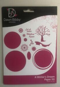 Dawn Bibby Designs ~ A Winter's Dream Paper Kit ~ Metal Die Set