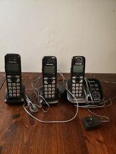 Panasonic Kx-Tg4731 Cordless Phone Dect 6.0 Answering Machine 3 Handsets