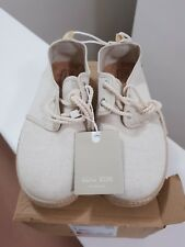 ZARA BOYS BRAND NEW CANVAS SHOES SIZE 1.5 BEIGE LIMITED EDITION