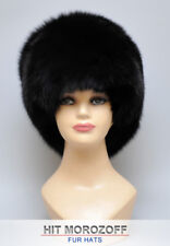Saga BLACK FOX Fur Winter Hat Russian Zhivago Chapka Pelzmütze Fellmütze Fuchs