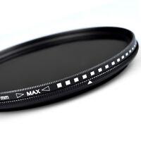ZOMEI Slim ND Filter Adjustable Neutral Density Fader filter ND2-400 for DSLR