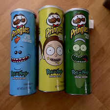 Complete SET 3 RICK and MORTY Pringles SPECIAL Edition On hand.