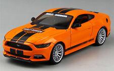 Maisto 1:24 Ford Mustang GT Harley Davidson Diecast Model Car New in box Orange