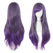 Fashion Lolita Purple Ombre Wig Long Straight Hair Costume Cosplay Full Wig