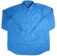 Timberland Weathergear Men's XL Blue Long Sleeve Collared Button Up Shirt