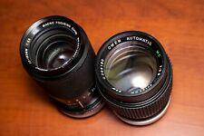 Lot of 2 Canon FD Vintage Portrait / Telephoto Lenses