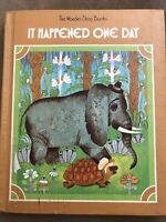 IT HAPPENED ONE DAY A Wonder Story Book By Miriam Blanton Huber 1978 HC Exlib