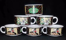 "Looney Tunes 6 Soup Bowls ""Home-Made Specialties"" Bugs Sylvester Tweety Warner B"