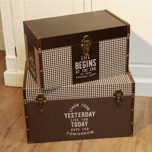 Hemingway Set of 2 Large Storage Trunks Boxes