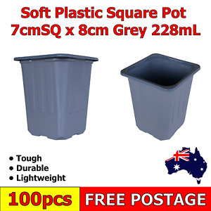 100 Psc Plastic Square Pot Succulents Garden Soft Plastic-Propagation & Seedling