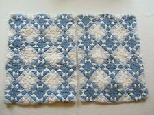 Set of 2 LL Bean Quilted Blue & White Quilted Standard Shams VGC