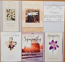 6 Pack of Sympathy Cards Sorry for your loss Condolance Mourning Bereavement /s3