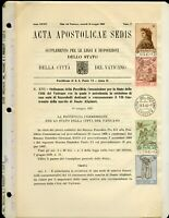 VATICAN CITY 1965 DANTE ALIGHIERI ON OFFICIAL ANNOUNCEMENT FIRST DAY CANCELED