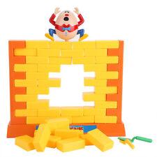 Push Knock-on Bricks Wall Demolish Family Board Game Educational Children Toy