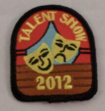Girl Scout Patch Talent Show 2012 Acting Masks  Uniform Patch Gs #Gsbk