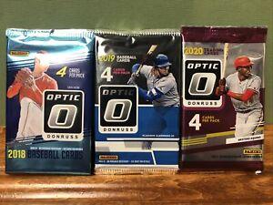Donruss OPTIC Baseball 3 Packs Lot ( 2018,19, & 20 )