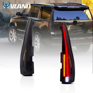 LED Tail Lights For GMC Yukon & Chevrolet Tahoe Suburban 2007-2014 Smoked