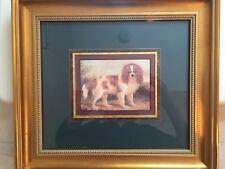 Framed Print Of Blenheim Cavalier King Charles Spaniel!