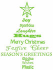 Christmas Tree Quote, Wall Art Stickers, Mural Decal. Festive Decor, window