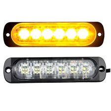 Car Truck 6 LED Strobe Light Flash Emergency Hazard Warning Amber Lamp DC12V~24V