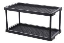 New Home 2-Tier Boot and Shoe Organizer Storage Rack Indoor Outdoor Tray Shelf