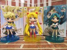 Sailor Moon Q posket Petit Vol.3 Usagi & Uranus & Neptune Figure Full set Japan