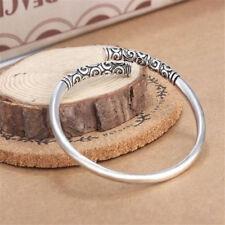 Handmade Women Men Jewelry Thai Silver Vintage Bangle Bracelet Open Cuff New