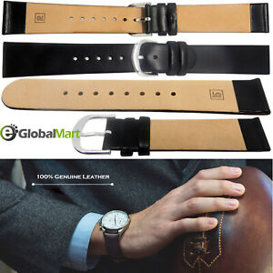 Mens and ladies Genuine Leather Watch Strap Twister  Black  18mm BS  UK