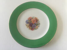 "Thomas China Bavaria Green Gold Floral - 10-3/4"" DINNER PLATE"