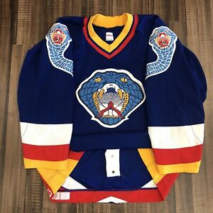 CCM Authentic Columbus Cottonmouths CHL Hockey Jersey Vintage 1996 Blue Away 52