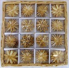 Strohsterne Box mit 56 St. 4,5-6cm, Goldfaden, Strohstern Christbaumschmuck