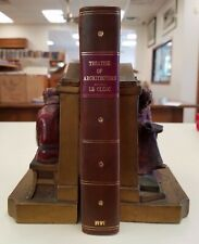 Treatise of Architecture by Le Clerc 2 in 1 1724/1727 Original Calf 181 Plates