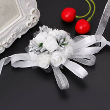Romantic Wedding Party Corsage Bracelet Bridal Bridesmaid Hand Wrist Flowers Hot