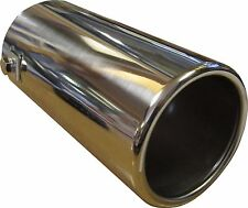 150MM STAINLESS STEEL BIG BORE CAR EXHAUST TAIL PIPE TRIM CHROME TIP 76mm