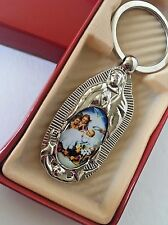 12-Baptism Party Favors Guadalupe Keychains Communion Recuerdos Bautizo Virgen
