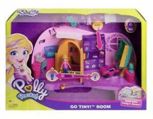 Mattel Polly Pocket FRY98 Go Tiny! Room Playset Uk Seller 🇬🇧 Brand New