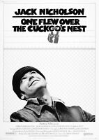 One Flew Over the Cuckoo's Nest Large BOX CANVAS Art Print Black & White