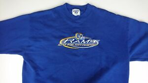 Vintage St Louis Rams Lee XL Royal Embroidered Sweater Superbowl XXXIV Champion