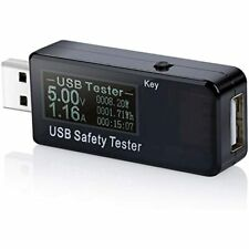 Usb Digital Power Meter Tester Multimeter Current And Voltage Monitor, Dc 5.1A