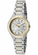 NEW! Seiko SXDE14 Two-Tone Stainless Steel Date Analog Women's Watch