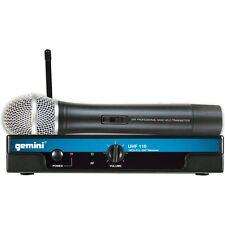 Gemini UHF-116M 16-Channel Wireless Handheld Transmitter DJ Microphone System