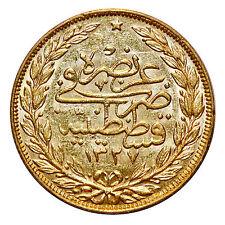 OTTOMAN: Mehmet V, Gold 100 Kurush, Kostantiniye (Constantinople), AH 1327//3