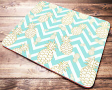 PINEAPPLE Mint Teal Chevron Pattern Mouse Pad Desk Accessories for Women
