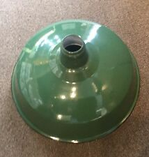 Antique Green Porcelain Enamel Light Shade Industrial Gas Station 16""