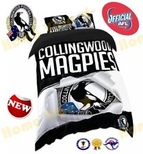 OFFICIAL AFL 2018 COLLINGWOOD MAGPIES QUILT DOONA COVER SET ~ BRAND NEW SINGLE