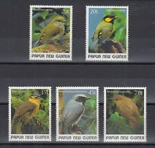 TIMBRE STAMP  5 PAPOUASIE Y&T#591-95  OISEAU BIRD NEUF**/MNH-MINT 1989 ~B19