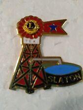 Lions Club Pin Slaton Ted windmill