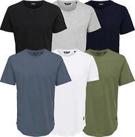 Only & Sons Men's Designer Curved Hem Longline T-Shirt, BNWT